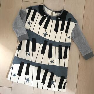 ユニカ(UNICA)の【美品】ユニカ  ワンピース  ピアノ柄 110センチ(ワンピース)
