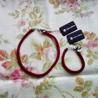 チェコビーズ ネックレス、ブレスレットセット(ネックレス)