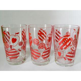 東洋佐々木ガラス - レトロなコップ×3個 昭和レトロ