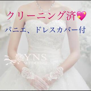 ヴェラウォン(Vera Wang)のYNS ウエディングドレス クリーニング済 パニエ付(ウェディングドレス)