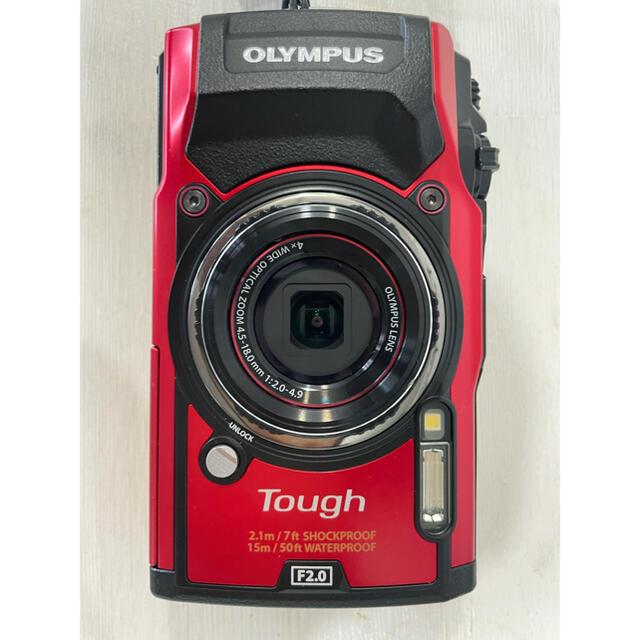 OLYMPUS(オリンパス)のオリンパス tg-5 red スマホ/家電/カメラのカメラ(コンパクトデジタルカメラ)の商品写真