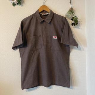 ベンデイビス(BEN DAVIS)の80s BEN DAVIS ハーフジップワークシャツ(シャツ)
