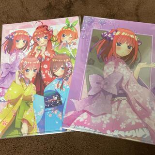 五等分の花嫁 桜和装 クリアファイル2点セット(クリアファイル)