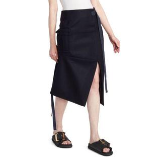 サカイ(sacai)の入手困難★sacaiサカイ☆新品コレクションラインタイトスカート紺(ロングスカート)