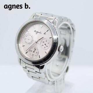 アニエスベー(agnes b.)のagnes b アニエスベー★トリプルカレンダー レディース腕時計 ライトピンク(腕時計)