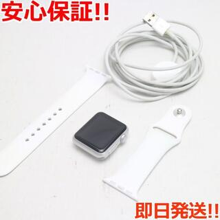 アップル(Apple)の美品 Apple Watch 38mm ホワイト (その他)