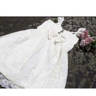 リズリサ(LIZ LISA)のリズリサ♥夢展望♥axes femme♥白♥花柄♥レース♥柔らか♥お姫様♥ワンピ(ミニワンピース)