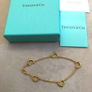 Tiffany & Co. - ☆正規品☆鑑定済み ティファニー ハート5 925 ブレスレット値下げ❗️
