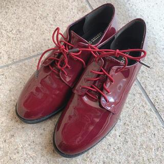 ウィゴー(WEGO)の革靴 レディース 赤 Lサイズ(ローファー/革靴)