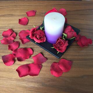 シルキーペタル  ルームフレグランス用  薔薇 レッド、ピンク、クレーム色(ドライフラワー)