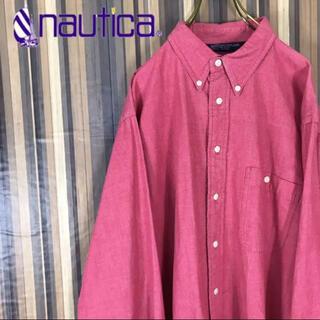 NAUTICA - 90s nautica ノーティカ BDシャツ ワンポイント刺繍 ビッグシャツ