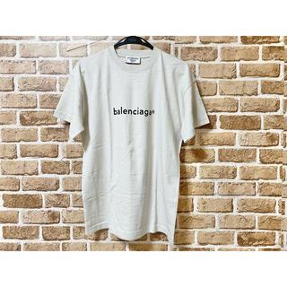 バレンシアガ(Balenciaga)の美品 BALENCIAGA バレンシアガ ロゴT ユニセックス グレーベージュ(Tシャツ/カットソー(半袖/袖なし))