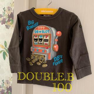 ダブルビー(DOUBLE.B)の⭐️DOUBLE.Bダブルビー⭐️スロットビーくんトレーナー 100(その他)