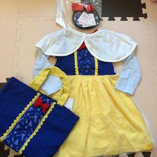Disney - 新品 白雪姫なりきりワンピースセット100 ハロウィン 仮装