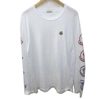 モンクレール(MONCLER)のモンクレール 21AW Tシャツ 長袖 袖ロゴ クルーネック 国内正規 XL(Tシャツ/カットソー(七分/長袖))