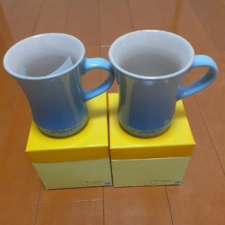 ルクルーゼ(LE CREUSET)のLE CREUSET ル・クルーゼ マグカップ コースタルーブルーS 2個セット(グラス/カップ)