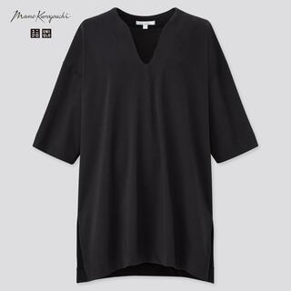 UNIQLO - 美品 ユニクロ mamekurogouchi エアリズムコットンオーバーサイズT