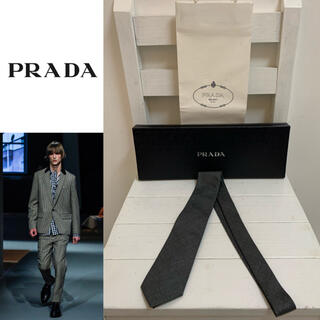 PRADA - PRADA プラダ 2013AW 未使用品 ITALY製 ウールシルク混ネクタイ