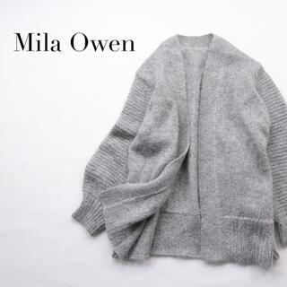 Mila Owen - ミラオーウェン✨モヘヤ混 ボリュームスリーブ ふわふわ カーディガン