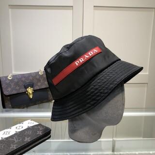 PRADA - 【サイズ:M】人気新品   プラダ ナイロン ハット 帽子 黒#1701