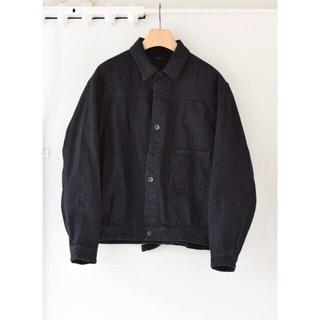 コモリ(COMOLI)のCOMOLI 20AW  デニムジャケット ブラック サイズ2(Gジャン/デニムジャケット)