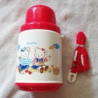 ファミリア(familiar)のほぼ新品 familiar赤色コップ水筒(水筒)