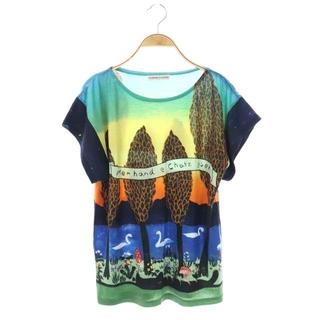 ツモリチサト(TSUMORI CHISATO)のツモリチサト Tシャツ 半袖 総柄 mer hand e chatz gseh(Tシャツ(半袖/袖なし))