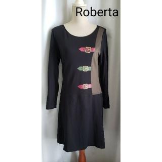 ROBERTA DI CAMERINO - 大変美品 ROBERTA 可愛いベルト柄ワンピース