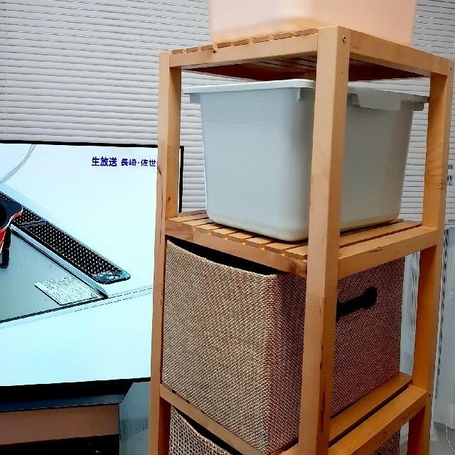 IKEA(イケア)のイケア 木製収納棚 引取限定 インテリア/住まい/日用品の収納家具(棚/ラック/タンス)の商品写真