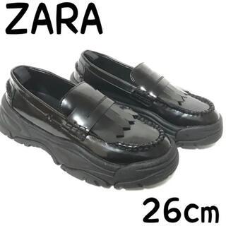 ZARA - ZARA zara ザラ マキシソールローファー 40 26cm ローファー