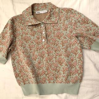 マルニ(Marni)の花ジャガードトップス zara(Tシャツ(半袖/袖なし))