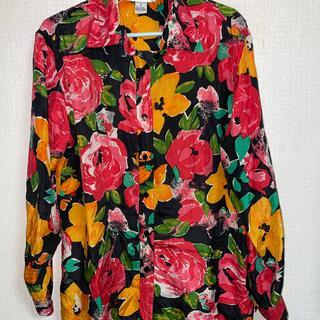アニエスベー(agnes b.)のアニエスベーローズプリント シルクシャツ(シャツ/ブラウス(長袖/七分))