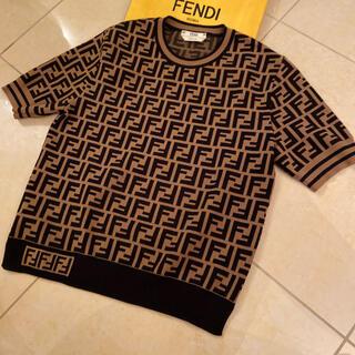 フェンディ(FENDI)の❤️美品 格安 正規品 FENDI 半袖セーター❤️(ニット/セーター)