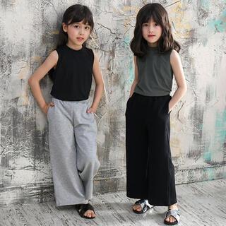 【新品タグ付き】BEE 子供服 ワイドパンツ 黒&グレー 2点セット(その他)