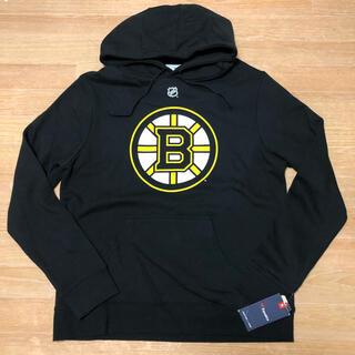 未使用 NHL BOSTON BRUINS ロゴ パーカー L BERGERON(パーカー)