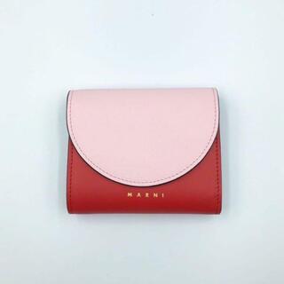 マルニ(Marni)のマルニ MARNI ピンク レッド ミニ財布 財布 折り財布 コインケース(財布)