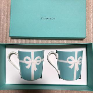 Tiffany & Co. - 再お値下げ【新品】Tiffany ブルーリボン ペアマグカップ