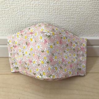 マスク(THE MASK)のインナーマスク ハンドメイド お花柄 可愛い 子供Lサイズ☆(外出用品)