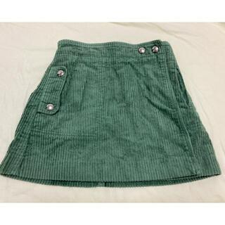 ザラキッズ(ZARA KIDS)のZARA kids ラップスカート 128 125 深緑 コーデュロイ(スカート)