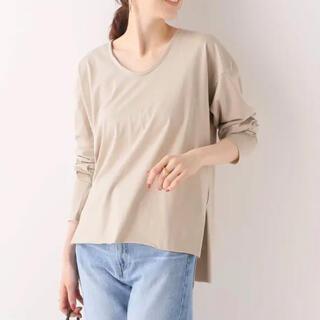 イエナ(IENA)の【Loro】DOUBLE U NECK T(Tシャツ/カットソー(七分/長袖))