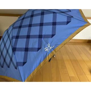 ポロラルフローレン(POLO RALPH LAUREN)の[雨傘]可愛いポロラルフローレン ボーダー プリント 折りたたみ傘 軽量(傘)