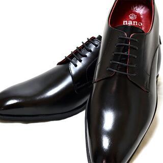 ナノユニバース(nano・universe)の新品 nano universe 牛革 25.5 ビジネスシューズ 革靴 黒(ドレス/ビジネス)