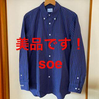 ソーイ(SOE)の美品です!日本製!soe ソーイ マルチチェック コットンシャツ ボタンダウン(シャツ)