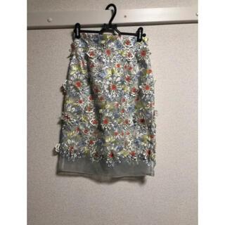 リリーブラウン(Lily Brown)の花柄スカート(ひざ丈スカート)