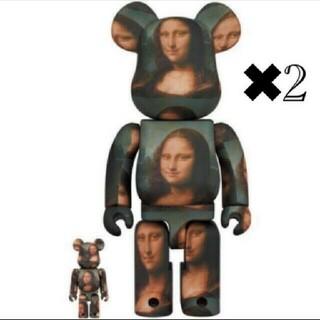 メディコムトイ(MEDICOM TOY)の2個セット LEONARD DE VINCI Mona Lisa べアブリック(フィギュア)