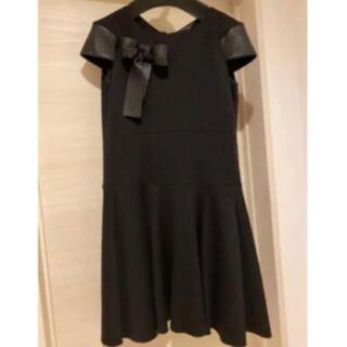 ルイヴィトン(LOUIS VUITTON)の正規品 ルイヴィトン ワンピース ドレス黒 38 美品(ひざ丈ワンピース)