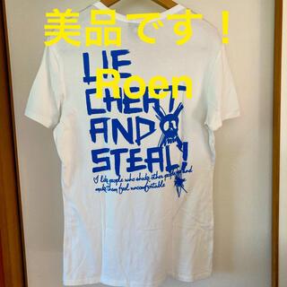 ロエン(Roen)の美品です!Roen ロエン スカル レタードバックプリント コットンTシャツ(Tシャツ/カットソー(半袖/袖なし))