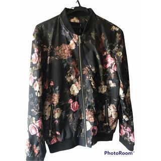 ダッフィー(ダッフィー)の韓国 SHANBAO ジャケット 花柄 ブラック ブルゾン(ブルゾン)