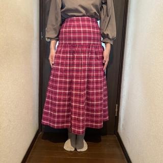エージーバイアクアガール(AG by aquagirl)のエージーバイアクアガールのチェックスカート(ロングスカート)
