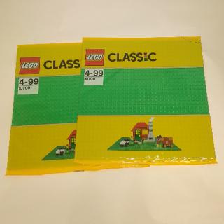 レゴ(Lego)の10700 レゴ(R)クラシック 基礎板 緑 2枚セット(その他)